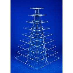9 tier  square cupcake stand