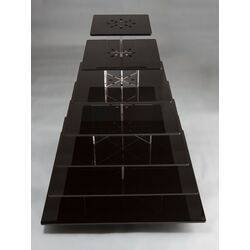 7 tier square black cupcake stand