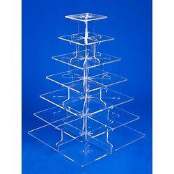 7 tier clear square cupcake stand