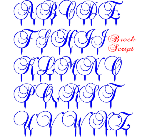 Acrylic Letter brock script