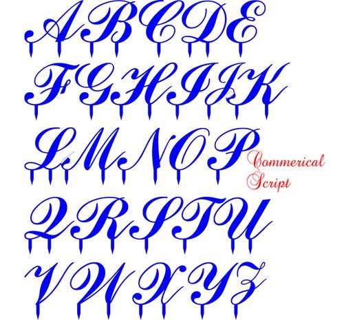 Acrylic Letter Comerical Script