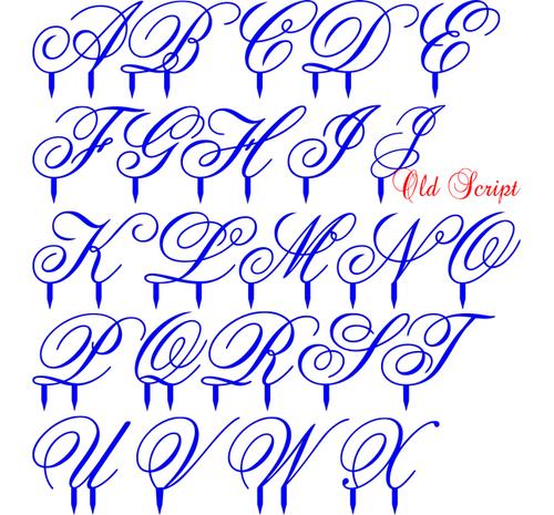 Acrylic Letter Old Script